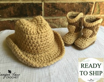 607305879b9 Cowboy Hat and Boots 0-3 Month Baby Halloween Costume Boy Costume Crochet  Newborn Baby Boy Outfit Infant Cowboy Photo Prop READY to SHIP
