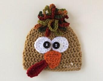 60d17f5df5b Crochet Turkey Hat for Girl Boy Men Women