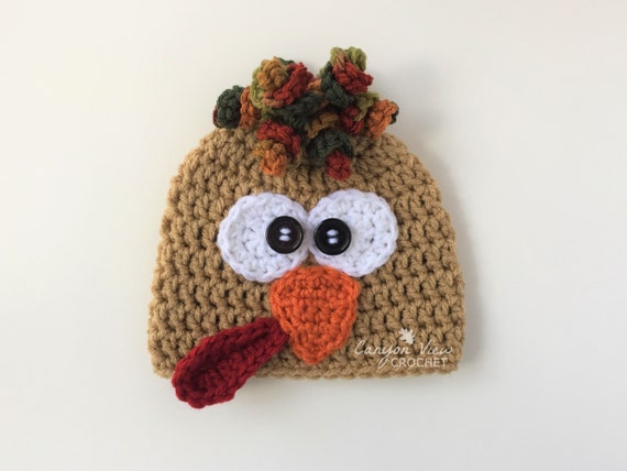 Newborn /& Toddlers up to 24 Months Preemie Happy Thanksgiving Turkey Baby Hat