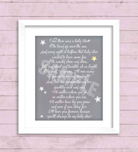 16 X 20 Nursery Wall Art Baby Star Poem Etsy The stars above the sea by anonymous. 16 x 20 nursery wall art baby star poem