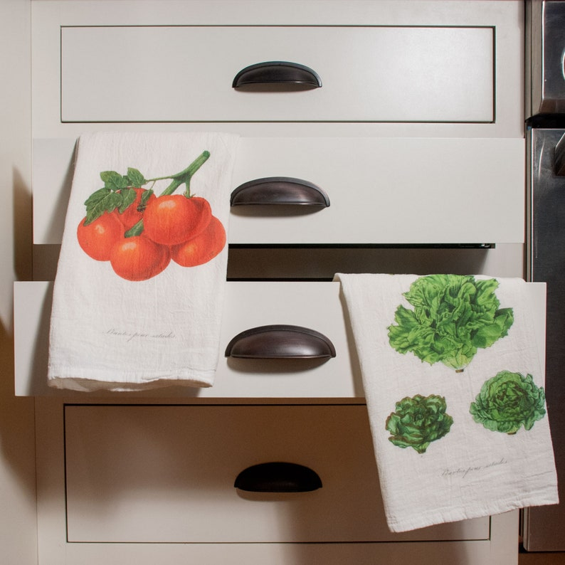 Lettuce & Tomatoes Flour Sack Towels image 0