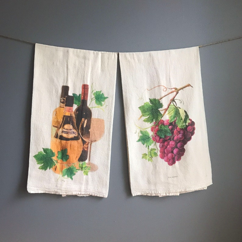 Wine & Grapes Flour Sack Towels image 0