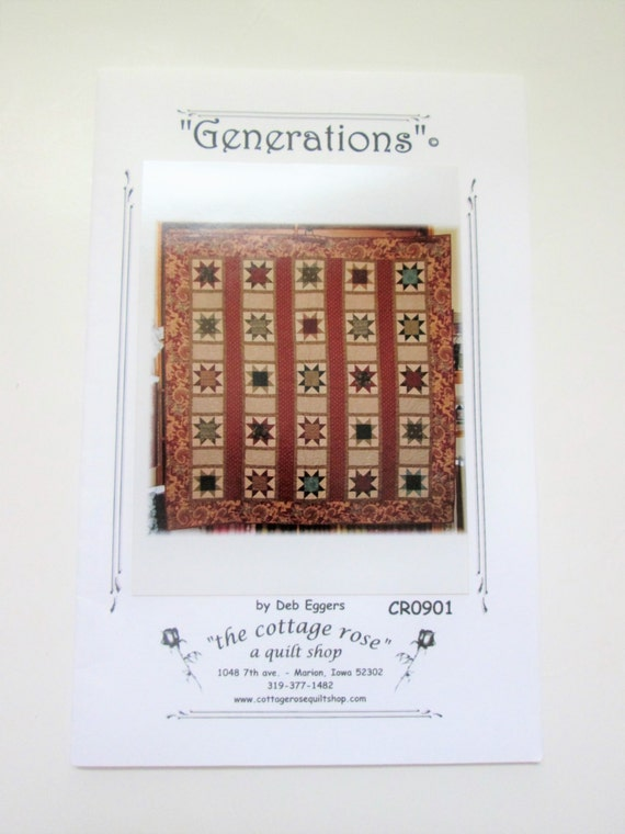 Generations Quilt Pattern By The Cottage Rose Quilt Shop Etsy Stunning Generations Quilt Patterns