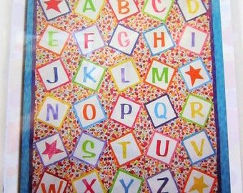 CLEARANCE-Alphabet Soup Quilt pattern, by CW Design Company