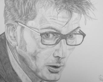 Tenth Doctor Pencil [PRINT]
