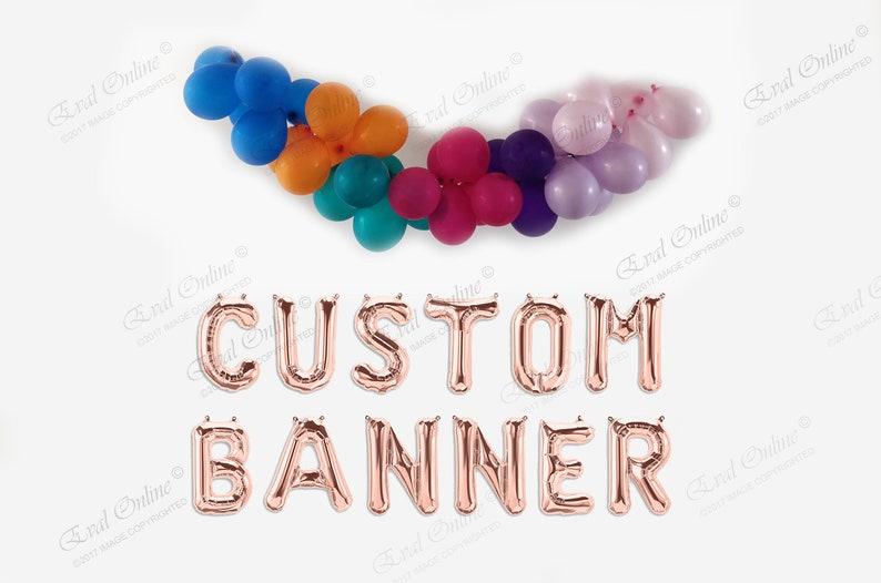 Custom Name Rose Gold Balloons Letters