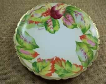 Collectible Plate, Antique Collectible Royal Austria Plate, Oscar & Edgar Gutherz, Hand Painted Artist Signed, FREE Priority SHIPPING