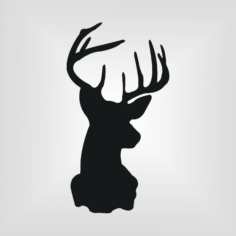 Deer Head Silhouette Wall Quotes™ Wall Art Decal ...