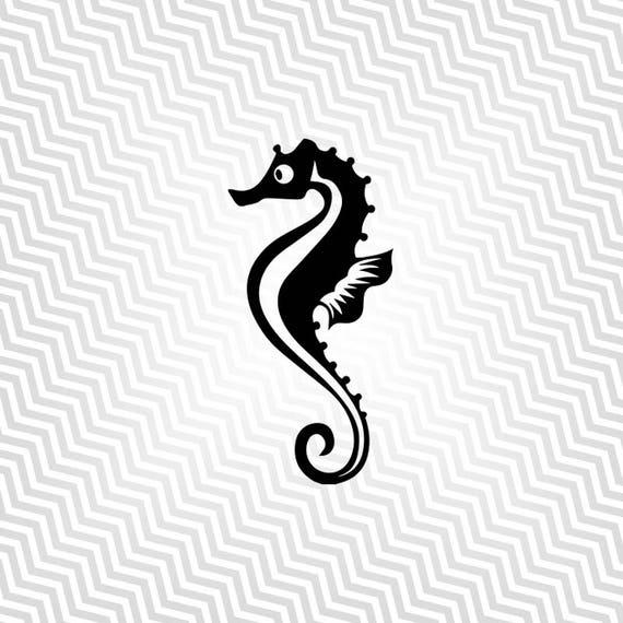 Seahorse Svg Cutout Seahorse Silhouette Vector Art Cricut