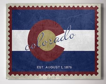 Colorado State Stamp Of United States Vintage Flag US