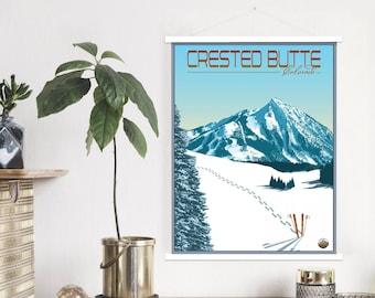 Crested Butte Colorado Wall Canvas Vintage Wall Decor and Art Crested Butte Colorado Vintage Town Canvas Mountain Town Colorado Town