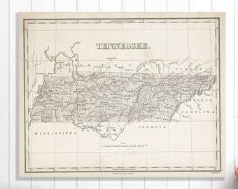Tennessee map decor   Etsy