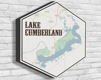 Lake cumberland map | Etsy