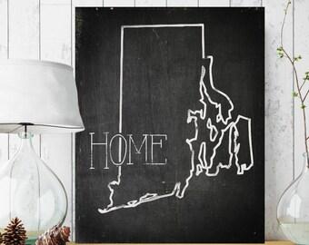 Rhode Island Canvas Sign, Vintage Style Canvas Sign, State Canvas Wall Decor, Vintage Home Decor, Your State Home Decor, Canvas Wall Art