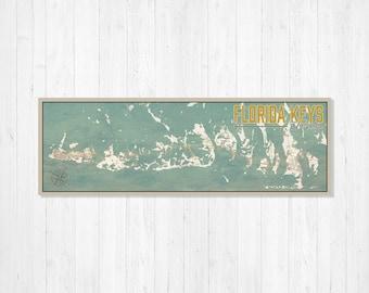 The Florida Keys Map.Florida Keys Map Etsy
