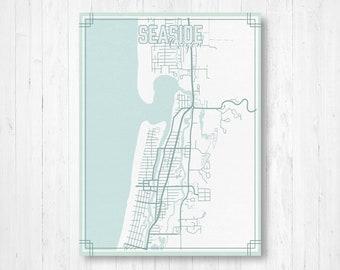 Seaside Florida Map.Seaside Florida Map Etsy