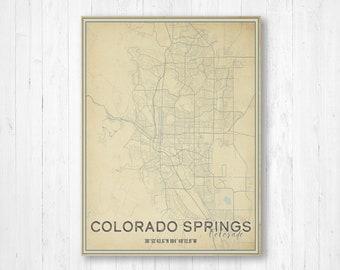 Pueblo Colorado Map Etsy