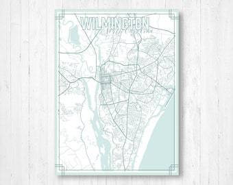 Wilmington nc map | Etsy on