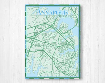 Annapolis map | Etsy