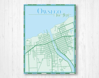 Map Of New York Oswego.Oswego Ny Map Etsy