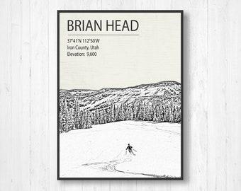 Head print | Etsy