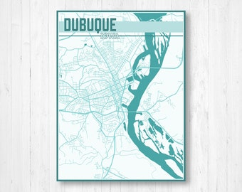 Dubuque iowa map | Etsy on