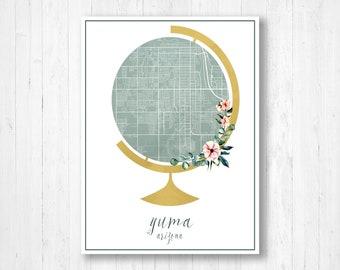 Street Map Of Yuma Arizona.Map Of Yuma Etsy
