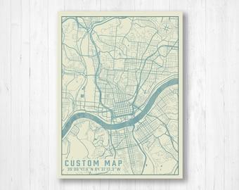 City maps | Etsy