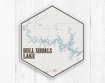 Arkansas lakes map | Etsy