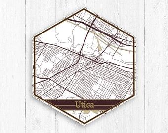 Utica Map Etsy