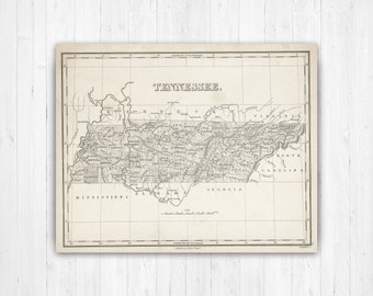 Tennessee map | Etsy