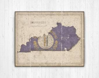 Kentucky map | Etsy