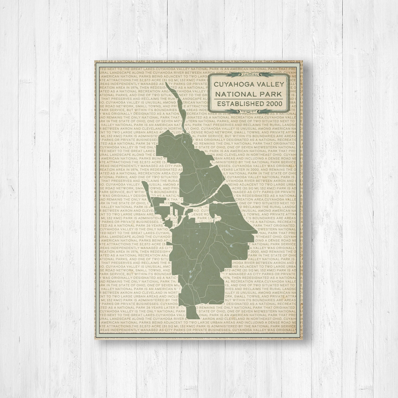 Cuyahoga National Park Street Map Print, Cuyahoga National Park Map ...