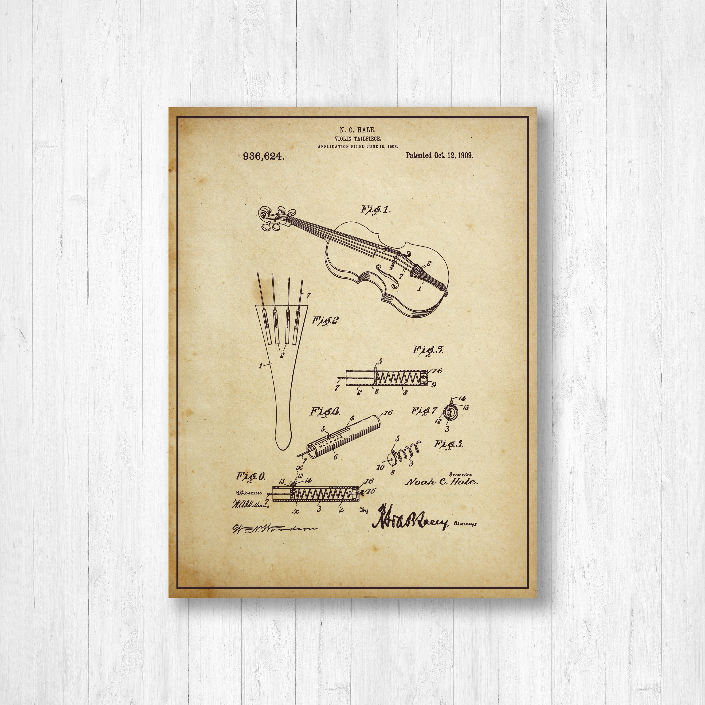 Violin, Patent, Music, Old Patent, Invention, Vintage Patent, Violin ...