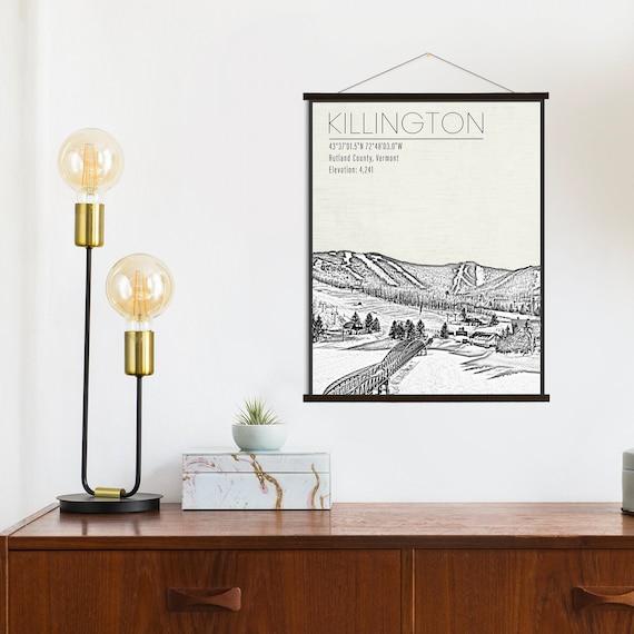 Killington Vermont Ski Resort Hanging Canvas Of Killington Etsy
