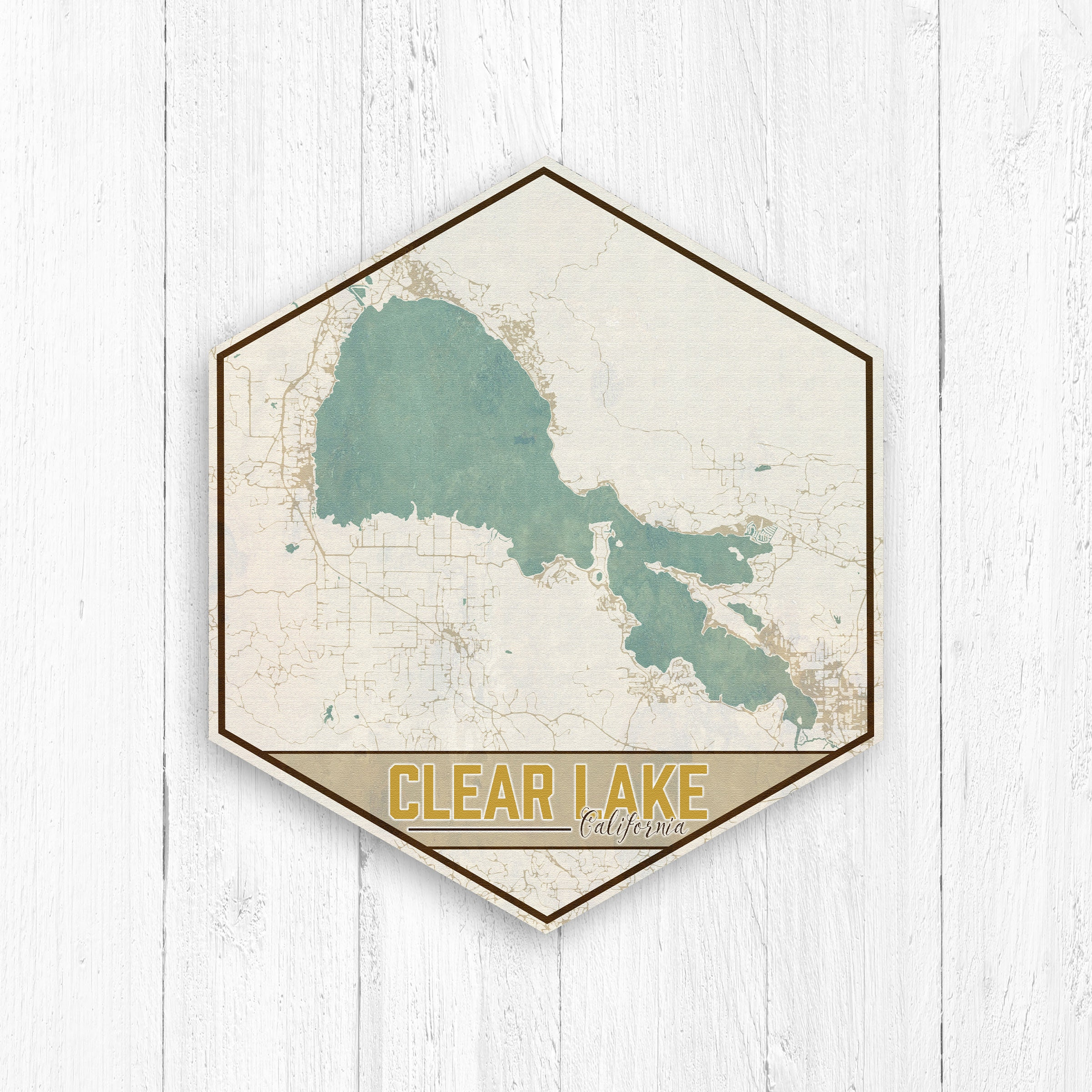 Clear Lake California Map on