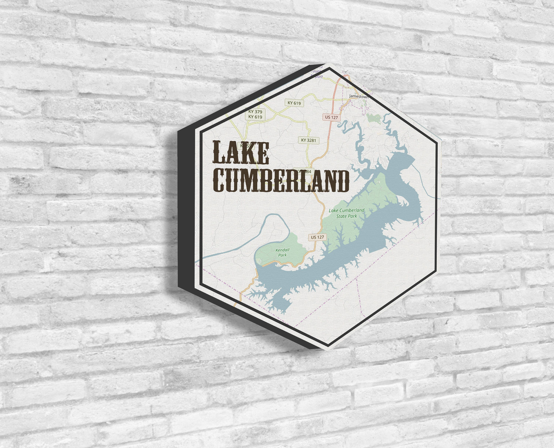 Lake Cumberland, Lake Cumberland Art, Lakes of America, Nautical Map ...