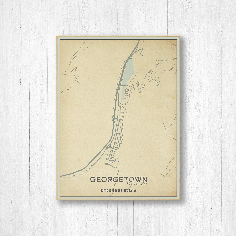 Georgetown Colorado Georgetown Street Map Georgetown Print