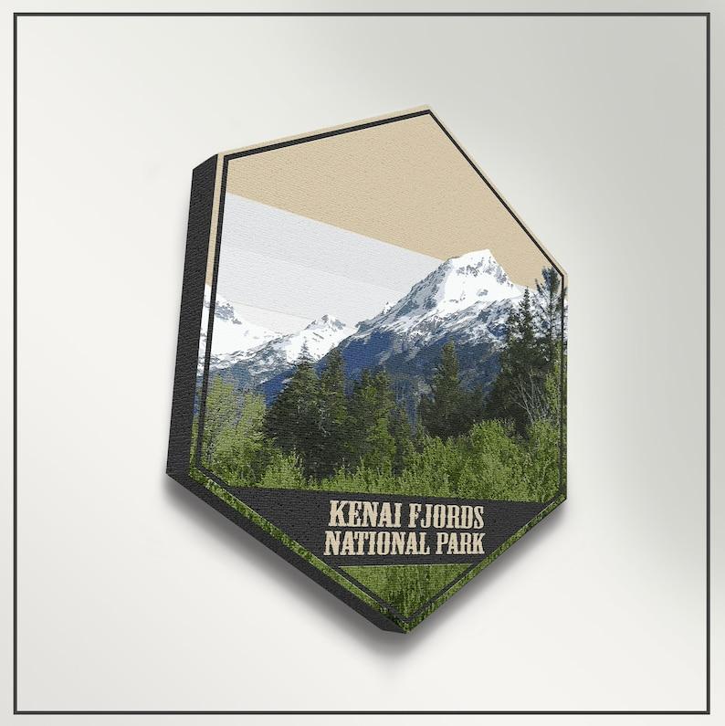 Kenai Fjords National Park Alaska Hexagon Print by Printed Marketplace