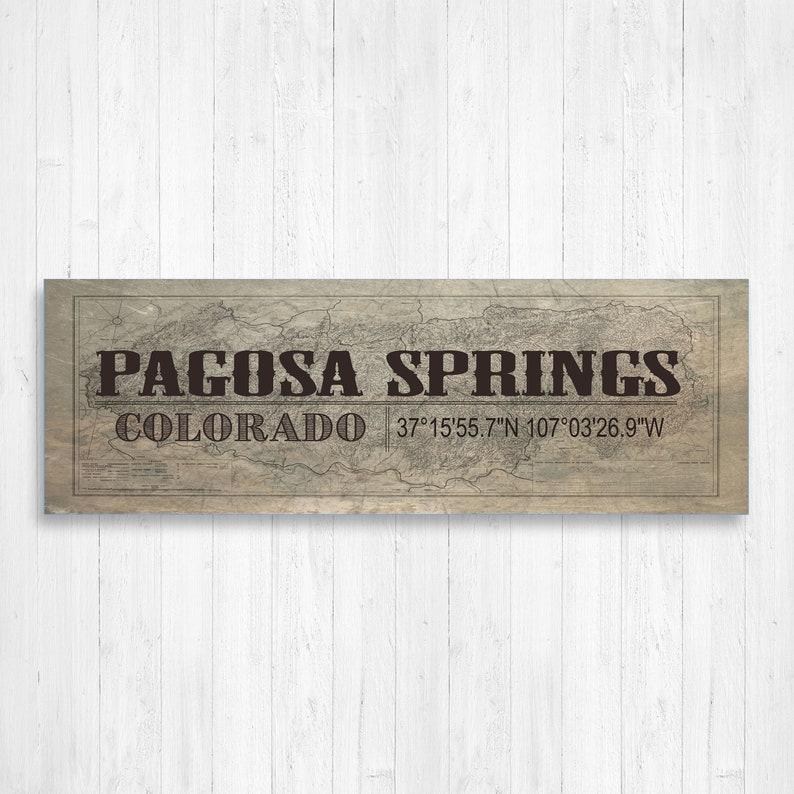 Pagosa Springs Vintage Town Canvas Vintage Wall Art Pagosa Springs Vintage Wall Decor Colorado Town Colorado Wall Canvas Mountain Town