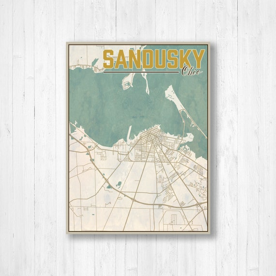 Sandusky, Ohio, Sandusky City Map, Map of Sandusky, Map Print, Vintage on pike ohio map, southeastern ohio map, northfield ohio map, south bass island ohio map, white cottage ohio map, stark ohio map, sandusky minnesota map, flint ohio map, ohio county map, wapakoneta ohio map, st bernard ohio map, east canton ohio map, pleasant ridge ohio map, boise ohio map, alliance ohio map, lawrence ohio map, ohio on us map, ohio ohio map, parma hts ohio map, destination point map,