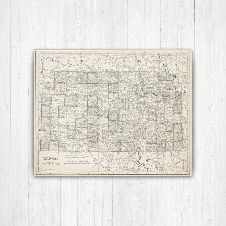 Map of Kansas, Kansas State Map, Kansas Canvas Map, Vintage Kansas Kansas On Us Map on kansas road map, kansas indians map, kansas wind map, kansas cities population, cimarron kansas map, kansas state on map, kansas with capital, kansas in us, st. marys kansas map, kansas highway map pdf, kansas state physical map, kansas name, www.kansas map, kansas wall map, kansas shape map, kansas info, kansas small town map, kansas map with cities only, kansas dot maps, the kansas map,