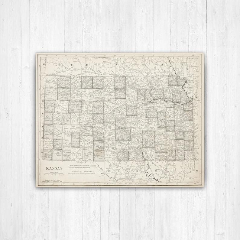 Map of Kansas, Kansas State Map, Kansas Canvas Map, Vintage Kansas Kansas State On Map on south carolina on map, wisconsin on map, minnesota on map, lsu on map, alabama on map, notre dame on map, colorado on map, kansas highway, yale on map, tulsa on map, marquette on map, kansas state highlights, ks road map, texas a&m on map, kansas flag, virginia on map, california on map, georgia on map, washington on map, gonzaga on map,