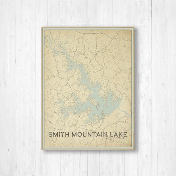 Smith Mountain Lake Virginia Moonlight Memories Travel Poster Art Print 363