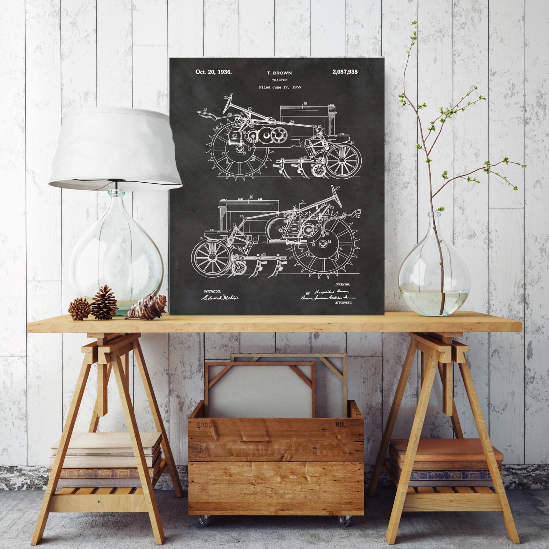Tractor Blueprint Farm Tractor Patent Print Farm Patent Print