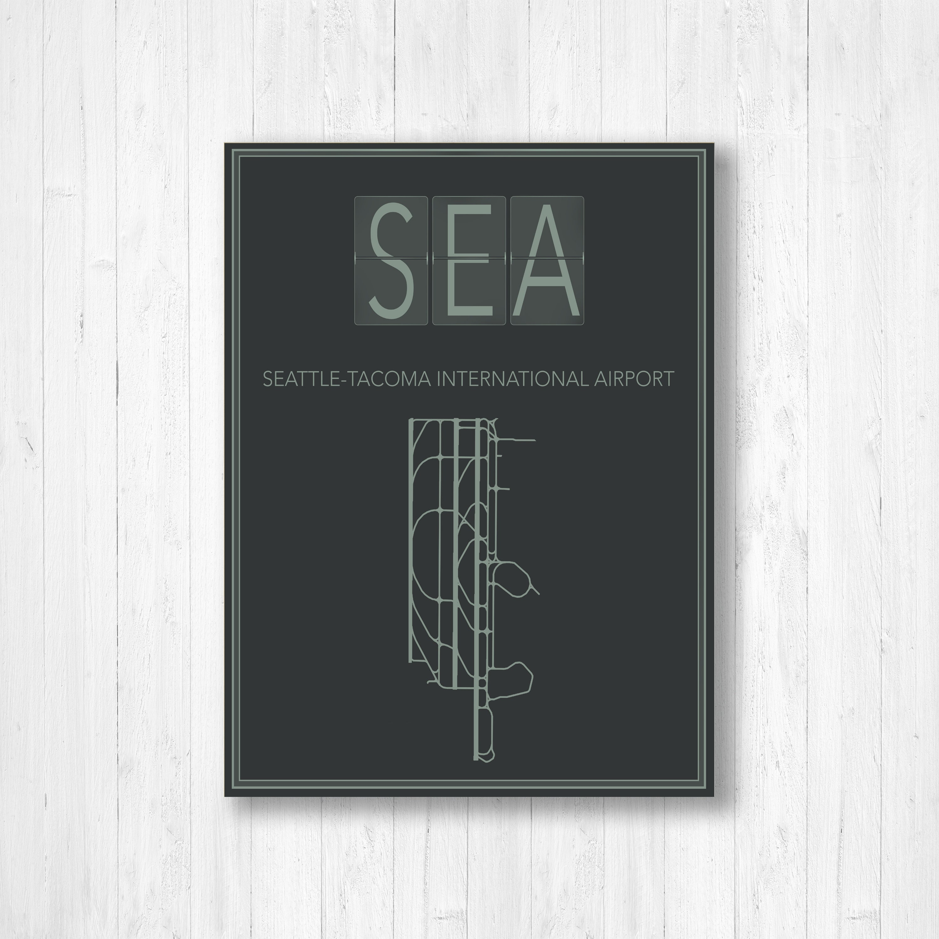 Seattle Tacoma International Airport Map Print, Seattle Airport ...