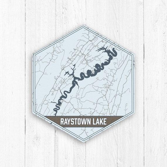 Raystown Lake Pennsylvania Hexagon Canvas Print, Raystown Lake Pennsylvania  Canvas, Nautical Map, Travel Collection, Raystown Lake Map Print