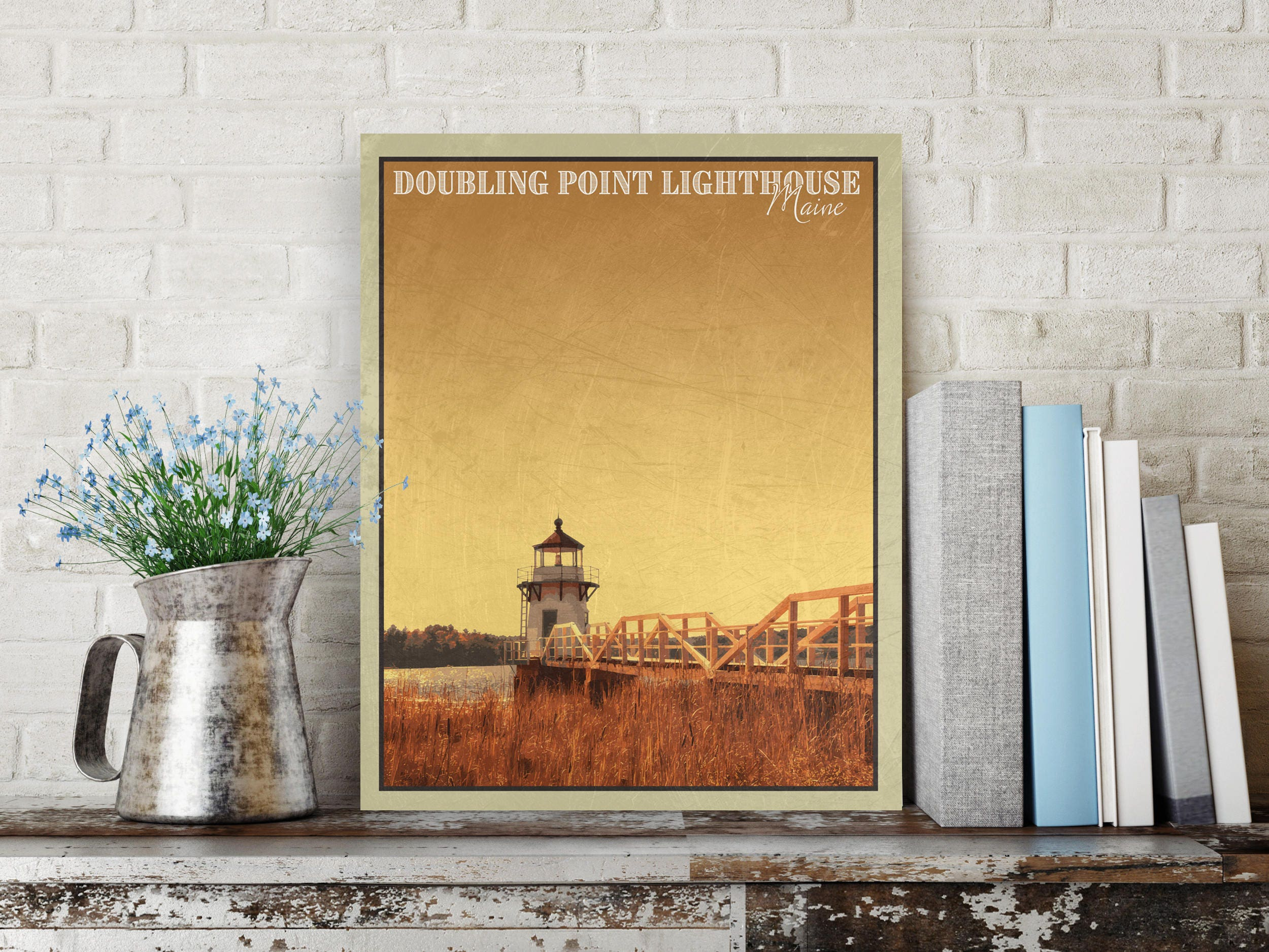 Doubling Point Lighthouse, Maine Print, Maine Wall Art, Lighthouse ...