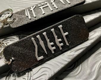 Handmade Custom The Mandalorian Name Keychain Personalized Gift Star Wars Inspired