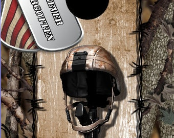 Fallen SoldierTribute Cornhole Decal Wrap Set